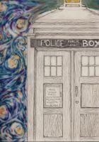 Starry Tardis by wrapped-in-the-world