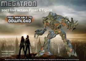 3D Movie Megatron Poser figure by RazzieMbessai