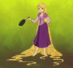 Rapunzel and her Pan by PuccaNoodles2009