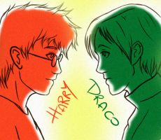 Harry vs Draco by ByLi4