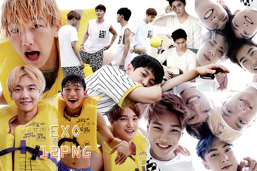 EXO PNG Pack {Dear Happiness Part. 2} by kamjong-kai