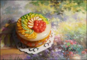 Birthday cake miniature by sakyachan