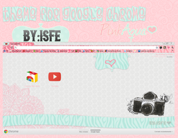 Theme For Google Chrome ZebraPinkAqua By isfe by Isfe