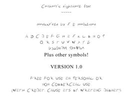 Cathartic Nightmare Font 001 by jehaldeman