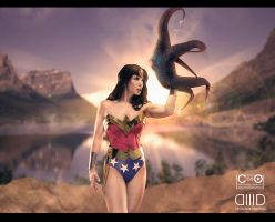 Wonder Woman with Starro by moshunman