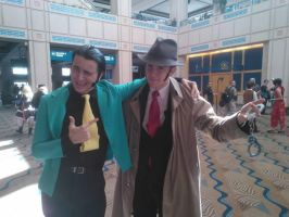 Lupin III and Inspector Zennigata by ThatOtherFangirl