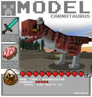 Minecraft - Carnotaurus by Dragonith