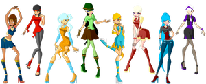 Rocix Club Season 5 Casual Outfits by Dragonitor