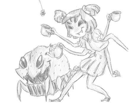 Muffet's Parlor (Sketch) by PageTurner8