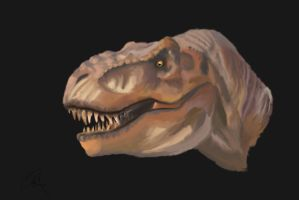 Jurassic Park T-rex Painting by yankeetrex