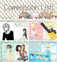 .:COMMISSION IS OPEN!!:. info + prices by akira-nami