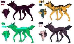 Dog/ Wolf adopts OPEN by SkeletonLete