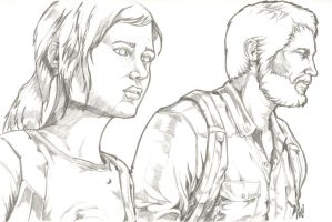 The Last of Us Joel and Ellie - Day 2 by csteoh