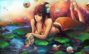 Goldfish_Girl by Unodu