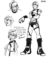 GLaDOS genderbend by Cpaek