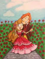 Kleine Rot and the Wolf: Garden of Roses by GabiSaKuRa