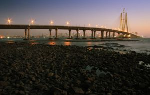 Bandra-Worli sea link by VarunThottathil