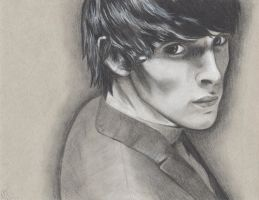 Colin Morgan -Charcoal by AnAddictWithAPen