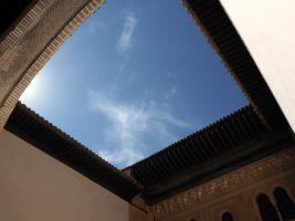 Skylight pours in through roof opening by juandfuca