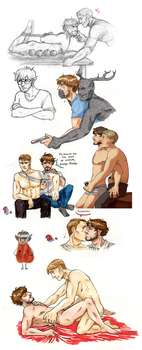 Sketchdump: Hannigram again by Ita-chaaan