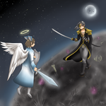 Commission - Duel of Life and Death by SierraAshura