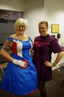 Captain American and Hawkeye by deense