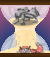 Contest Entry: In the Bottom Half of the Hourglass by Azailiathefox