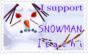 Stamp Request - SnowmanItachi by MzkXellos