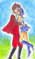 Sailor Mercury and Nephrite by Primasylph