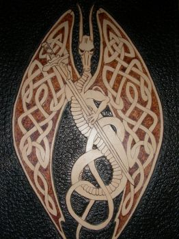 Celtic Dragon With Sword by TradArcher