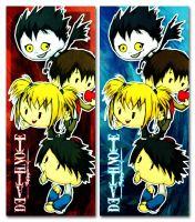 Death Note Bookmarks by Thiefoworld