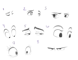 Eye Sketches by Ninoru