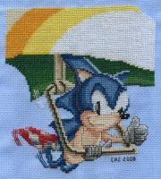 Flying Hedgehog Stitched by gatchacaz