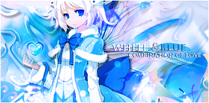 blue and white by Airumi-Dai