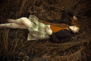 Irish girl in the Grass2 by angelsfalldown1