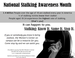 Stalking Awareness Month by EchoTheDeath