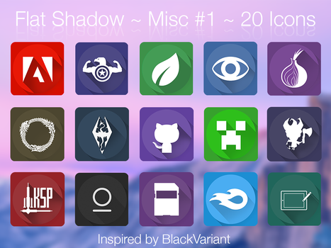 Flat Shadows - icon pack inspired by BlackVariant by jarrodwhitley