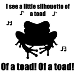 Toad Silhouette (Queen Parody Art) by Jenn-Coney1976