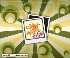 Polaroid on Retro Background by 123freevectors