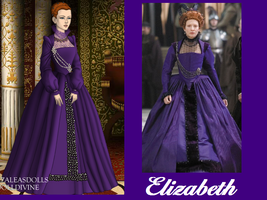 Elizabeth in Purple by msbrit90