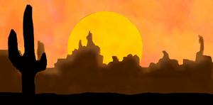 Desert Sunset (Cactus version) by Novelwrite