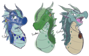 My SeaWing OCs by Over-the-Based-Line