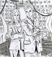 Doctor + Donna with background by HaanaArt