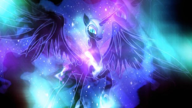 Wallpaper ~ Nightmare Moon. by Makkah-Chan
