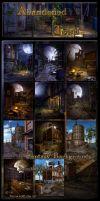 Abandoned Town Backgrounds by moonchild-ljilja