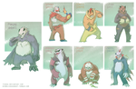 Pangoro Variants by Tyshea