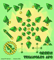 Triangles APB Green by jalentorn