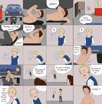 My bully spoof comic page 1 by LittleKidsin
