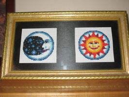 Sun and Moon Cross Stitch by susanjrobinson