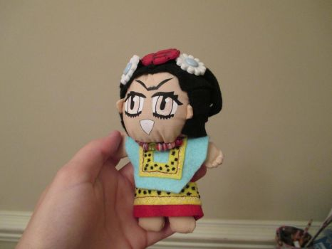 Frida Kahlo Display Plushie front by behappy1990